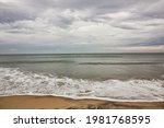 Scenic view of the waves...