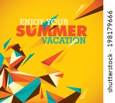 Colorful Summer Background Wit...