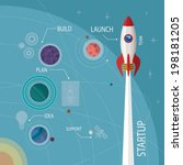 vector concept of start up new... | Shutterstock .eps vector #198181205