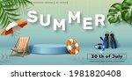 vector summer sale horizontal...   Shutterstock .eps vector #1981820408
