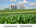 cornfield and silo in europe | Shutterstock . vector #198183485