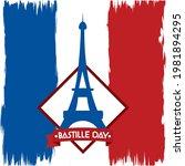 bastille day eiffel tower on...   Shutterstock .eps vector #1981894295