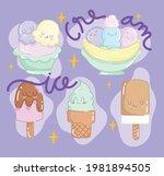ice cream funny cute cartoon   Shutterstock .eps vector #1981894505