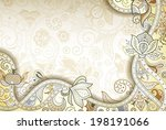 abstract yellow floral...