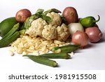 Isolated Group Of Mix Vegetable ...