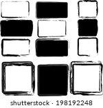 grunge frames. vector... | Shutterstock .eps vector #198192248