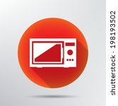 microwave icon. | Shutterstock .eps vector #198193502