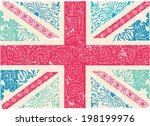 union jack with cute vector...   Shutterstock .eps vector #198199976
