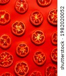 Pattern With Red Ripe Tomatoes...