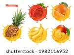 pineapple  strawberry  orange ... | Shutterstock .eps vector #1982116952