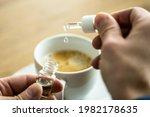 cbd cannabis oil supplement and ... | Shutterstock . vector #1982178635