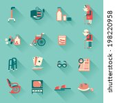 special medical objects for... | Shutterstock .eps vector #198220958