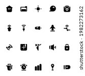 handphone button icons in solid ...