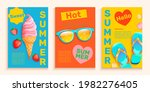 summer flyers cards with hot... | Shutterstock .eps vector #1982276405