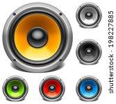 color speakers.   Shutterstock .eps vector #198227885