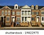 New Townhouses - stock photo