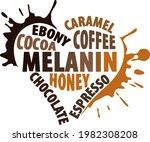 melanin heart with many shadows ... | Shutterstock .eps vector #1982308208