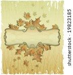 elegant frame with autumn...   Shutterstock .eps vector #19823185