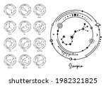 set of constellations in the... | Shutterstock .eps vector #1982321825