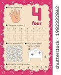 worksheets for learning numbers.... | Shutterstock .eps vector #1982332862