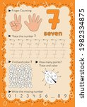 worksheets for learning numbers.... | Shutterstock .eps vector #1982334875