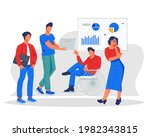business people talking and...   Shutterstock .eps vector #1982343815