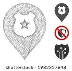 mesh police guard marker...   Shutterstock .eps vector #1982357648
