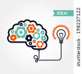 business idea or invention icon ... | Shutterstock .eps vector #198237122