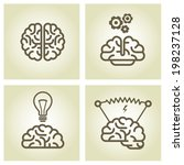 brain icon   invention and... | Shutterstock .eps vector #198237128