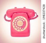 old orange telephone with... | Shutterstock . vector #198237428