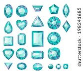 set of realistic green jewels.... | Shutterstock . vector #198241685