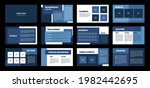 presentation template. blue...