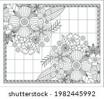coloring book for adult and... | Shutterstock .eps vector #1982445992