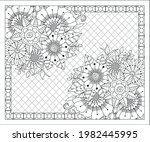 coloring book for adult and... | Shutterstock .eps vector #1982445995