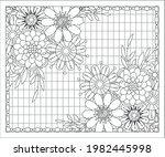 coloring book for adult and... | Shutterstock .eps vector #1982445998