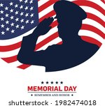 memorial day   remember and... | Shutterstock .eps vector #1982474018