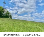 Windmill Standing On A Green...