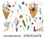 vector bouquets of flowers in... | Shutterstock .eps vector #1982516678
