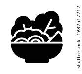 salad vector icon in glyph...