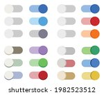 flat design toggle buttons set. ...