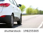 Stock photo speed car driving on road 198255305