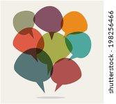 speech bubbles | Shutterstock .eps vector #198256466