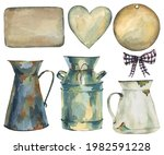 watercolor vintage collection...   Shutterstock . vector #1982591228