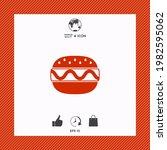 hamburger or cheeseburger icon. ... | Shutterstock .eps vector #1982595062