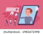 negative online reputation... | Shutterstock .eps vector #1982672498