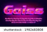 gaiss alphabet font. 3d effect...   Shutterstock .eps vector #1982683808