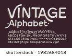 vintage alphabet font. hand...   Shutterstock .eps vector #1982684018