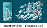 maps and navigation online on... | Shutterstock .eps vector #1982685038