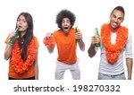 dutch soccer fan  | Shutterstock . vector #198270332