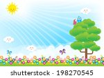 smile cloud and butterfly on... | Shutterstock .eps vector #198270545